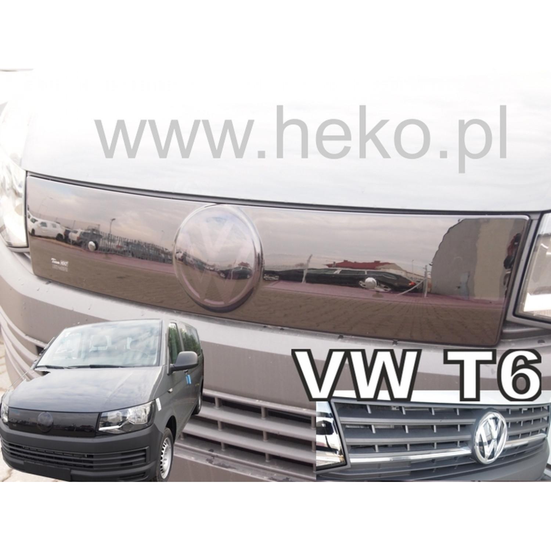 Žiemos deflektorius VOLKSWAGEN Transporter/Caravelle T6 viršutinis chromuotas (2015→)