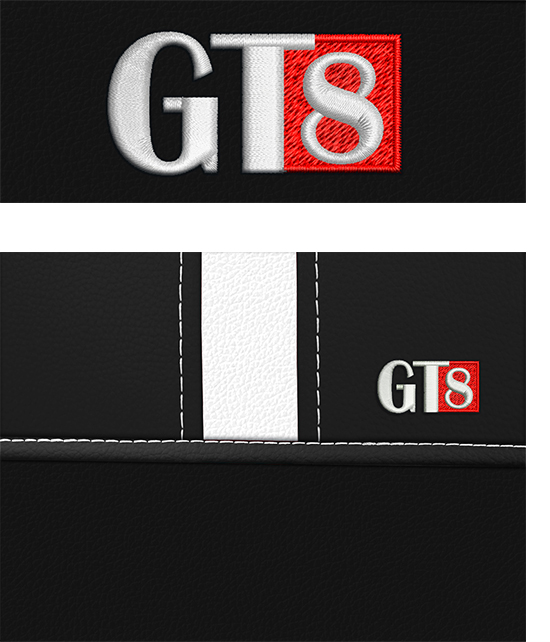 Sėdynių užvalkalai GT8 - siuvinėtas logo