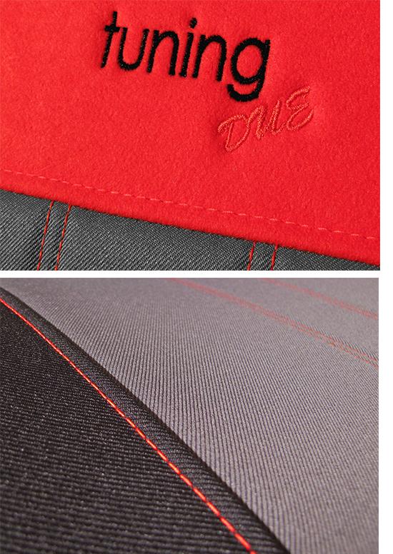 Sėdynių užvalkalai Tuning Due - siuvinėtas logo