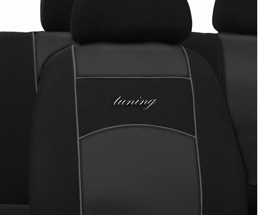 Sėdynių užvalkalai TUNING EXTRA - siuvinėtas logo